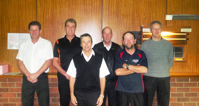 Quarter Finals 2010 - Rolf Stevenson, Paul Zoon, Keith Coomber, Adrian White, Lee Morcom, Dean Wilson. Absent- Andrew Rainbow