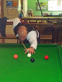 Barry Glover 2011 NTB&SA A Reserve Snooker Runner Up