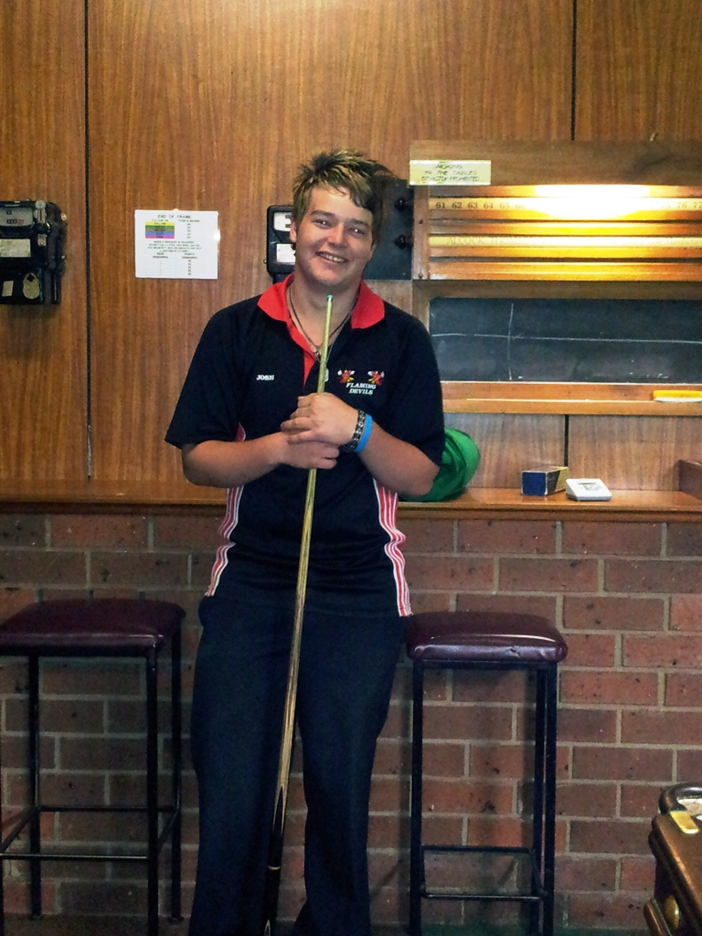 Josh Rainbow 2012 NTB&SA 'B' Grade Billiards Champion