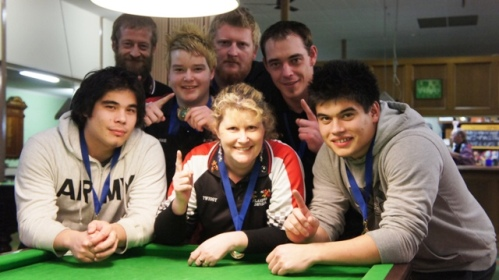 NTEBA - State 'B' Grade Teams Champions 2011 - Heath Rainbow, Alex Brooks, Phil Aird, Josh Rainbow, Danny Quach, Debbie Rainbow, Tony Quach