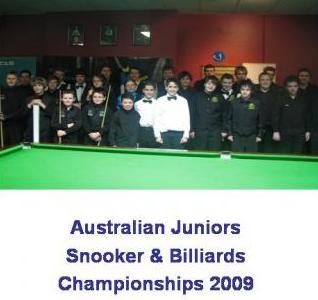 Australian Junior Snooker Championships 09